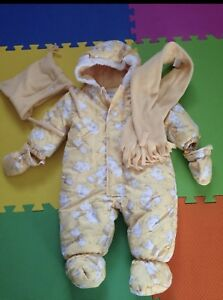 Girls snow suit set size 9 months