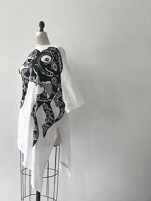 ⭕ 80s Vintage Kansai Yamamoto Octopus Asymmetry shirt : dress avant garde issey