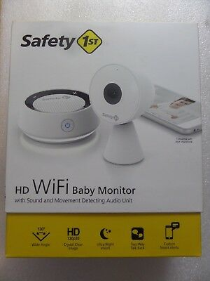 Safety 1st HD Wi-Fi Baby Monitor Camera with Sound and Movement Detecting Audio