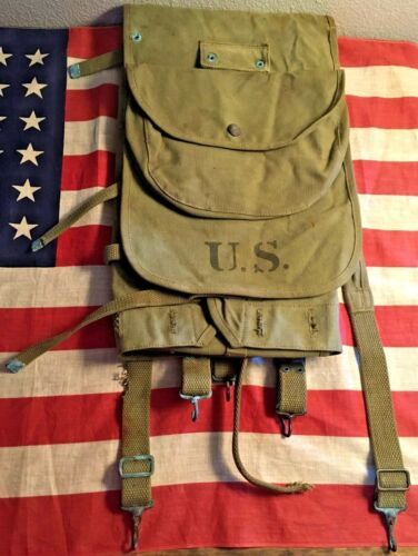 US Pre-WW1 M1910 Mills Backpack Dated 1912