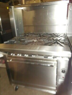 Used Montague 36 Range With 6 Burners And Std Oven