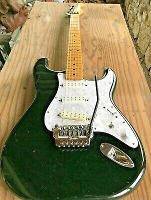 Mid 80s Japan Fender Squire Stratocaster Black w Duncans