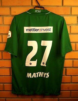 585feac99 Mathys St. Gallen match worn jersey 2012 2013 home shirt soccer football  Jako