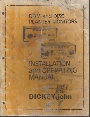 Dickey-john Dj3m And Dj3c Planter Monitors Installation And Operating Manual