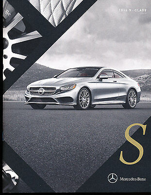 2016 Mercedes Benz S-Class Coupe 32-page Car Brochure Catalog - S550 S63 S65 AMG