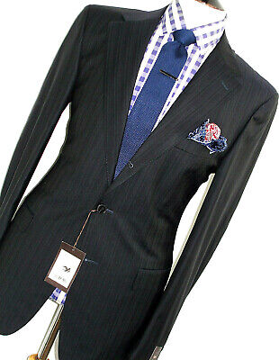 BNWT LUXURY MENS ERMENEGILDO ZEGNA STRIPEY DARK NAVY SARTORIAL SUIT 42R W36