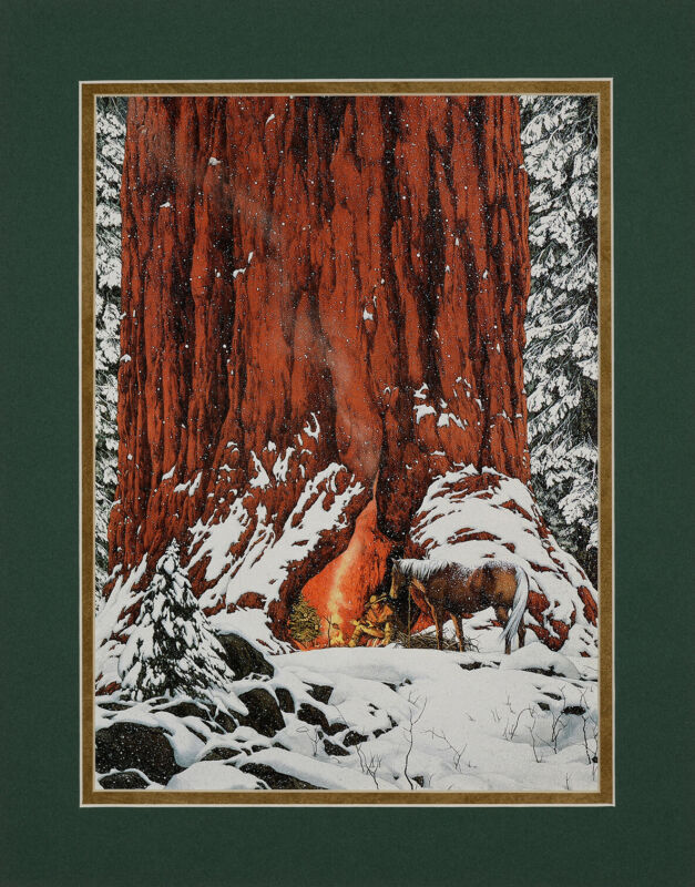 Bev Doolittle Season of the Eagle Double Matted print fits standard 11x14 frame