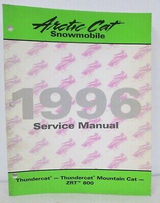 1996 arctic cat thundercat mountain cat zrt 800 service manual shop repair