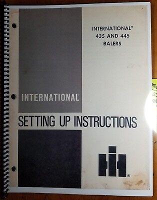 Ih International 435 445 Baler Setting Up Instructions Manual 1095121r4 284