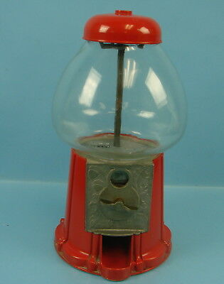Vintage Classic Table Top Gumball Candy Machine Made in USA Acorn & Leaf Design