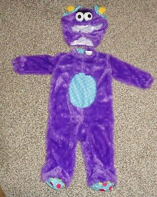 Spirit Baby Costumes (Spirit Baby Purple Monster Halloween Costume 2 Piece Size 6-12 Months EUC)