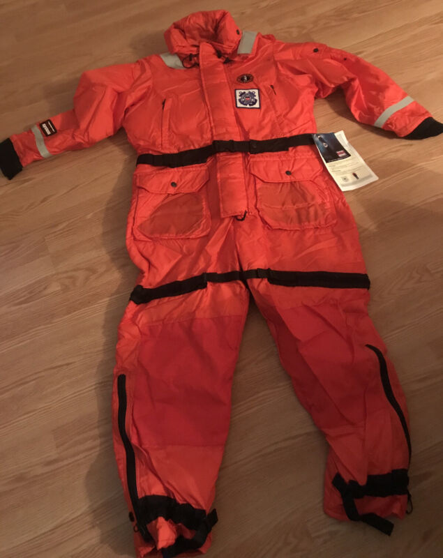 US Coast Guard Mustang Survival Suit - Type V -PFD Work suit -with Tags. Size L