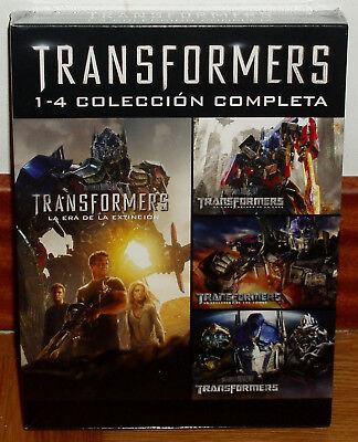 COLECCION COMPLETA 1-4 TRANSFORMERS 4 DVD PRECINTADO NUEVO ACCION (SIN ABRIR) R2 segunda mano  Embacar hacia Mexico