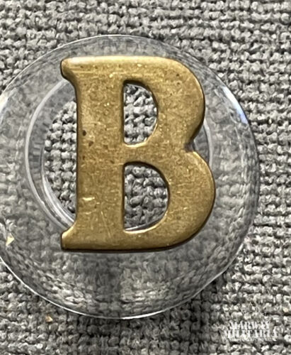 "Pre WW1, Military or Police ""letter B"" Badge (24824)"