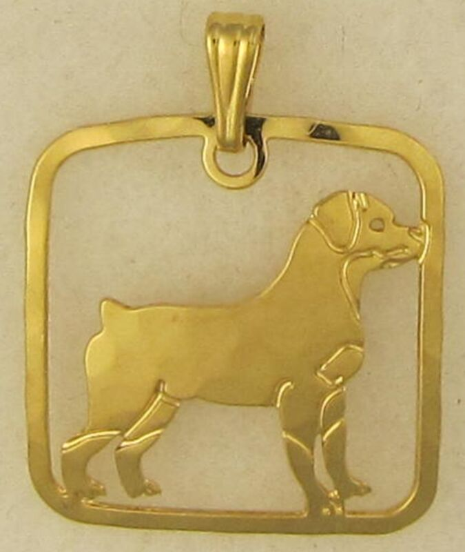 Rottweiler Jewelry Full Body Pendant by Touchstone