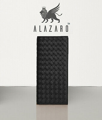 Bifold Long Luxury Wallet Full Grain Calf Leather - Alazaro Italia - Massimo