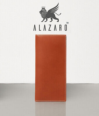 Bifold Long Luxury Wallet Full Grain Calf Leather - Alazaro Italia - Ambrosio