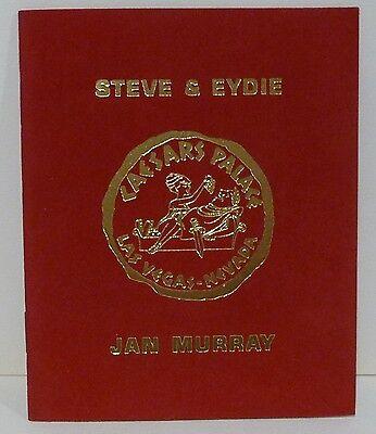 Caesar's Palace Las Vegas Souvenir Program 1969-70 Steve & Eydie, Frank Sinatra
