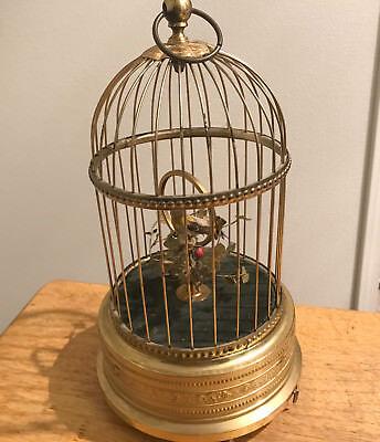 Working Antique KARL GRIESBAUM TM SINGING BIRD CAGE AUTOMATON MUSIC BOX video
