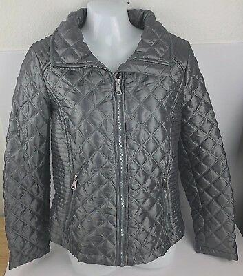 Marc New York Quilted Jacket - Marc New York Quilted Jacket Coat Gray With Shiny Tint Women's Size S