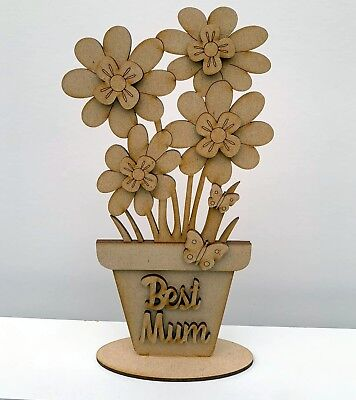s Day Freestanding Flower Pot Best Mum kit (Mothers Day Flower Pot)