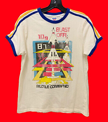 70s-Looking Atari T Shirt Sz Large Womens Missile Command