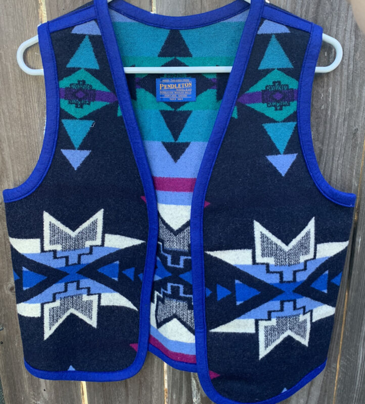VTG Mens Pendleton High Grade Western Wear Wool Vest Sz M? USA Made Aztec South