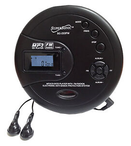 Supersonic-SC-253-Personal-MP3-CD-FM-Radio-Player-120-Second-Anti-Skip-New