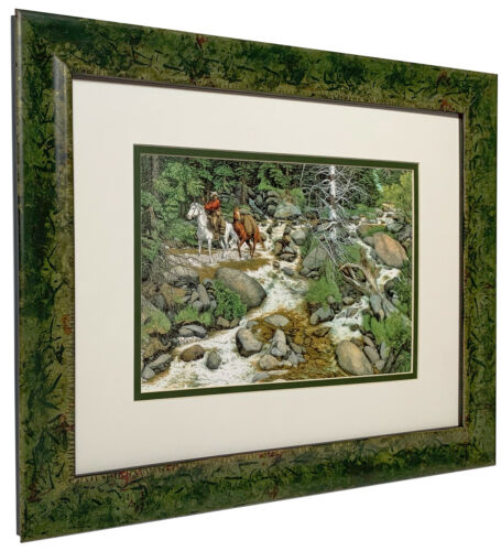 """Bev Doolittle  """"The Forest Has Eyes""""  Matted and Framed Open Edition Art Print"""