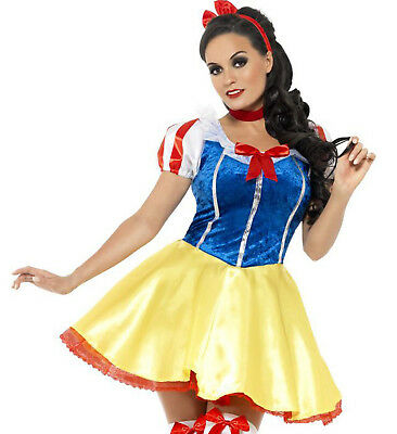 ADULT HALLOWEEN COSTUME SMALL FEVER FAIRYTALE SNOW WHITE DRESS SEVEN DWARFS  - Dwarf Costume Adults