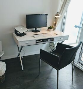 Beautiful white wood desk
