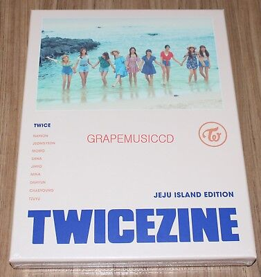 TWICE TWICEZINE JEJU ISLAND LIMITED EDITION PHOTOBOOK + DVD + 9 PHOTOCARD SET