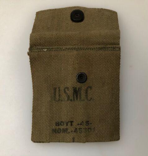 WWII USMC Carbine / 1911 Magazine Pouch BOYT 45 Original