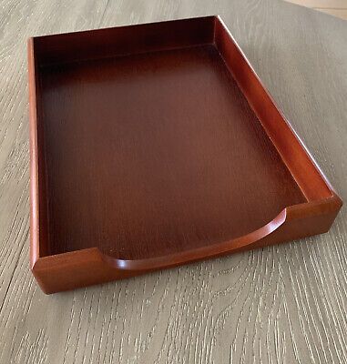 Rolodex Wood Tones Letter Desk Tray Wood Mahogany 23350 Gift For Dad Or Husband
