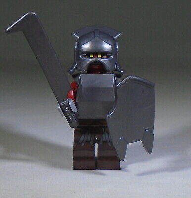 LEGO The Lord of the Rings Minifig: Uruk-hai with Helmet, Armor, Weapon, Shield