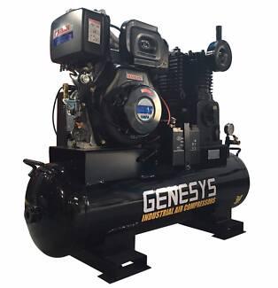 Diesel Air Compressor - 20 CFM 120 Lt -*Cast Iron* -11HP - 145PSI