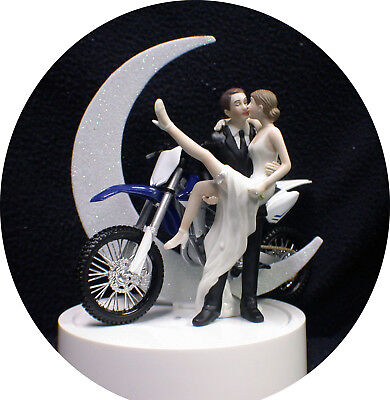 Yamaha Off Road Dirt Bike Motorcycle wedding Cake topper Groom top motorcross, used for sale  Shipping to India