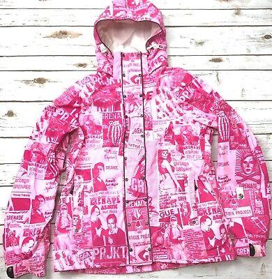 Grenade Fatigue Project Snowboard Jacket Pink Women S Hooded Snow Ski Gear  90s 0d7f0a289