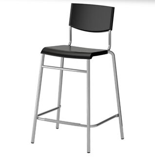 2 x bar stools with back rest