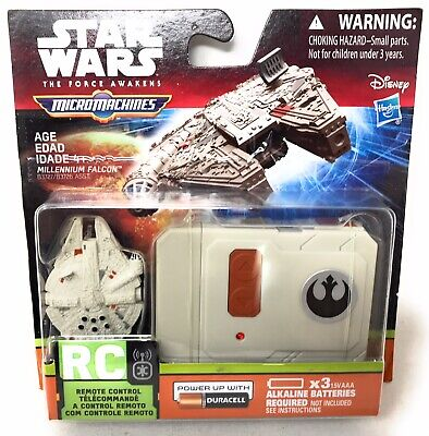STAR WARS THE FORCE AWAKENS MICRO MACHINES MILLENNIUM FALCON RC REMOTE CONTROL](Millennium Falcon Rc)
