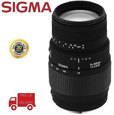 Sigma OS F/4-5.6 DG AF 70-300mm Lens Sony Alpha-Fit 572205 (UK Stock)