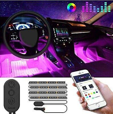 Govee Unifilar Car LED Strip Light, MINGER APP Controller Car Interior Lights...