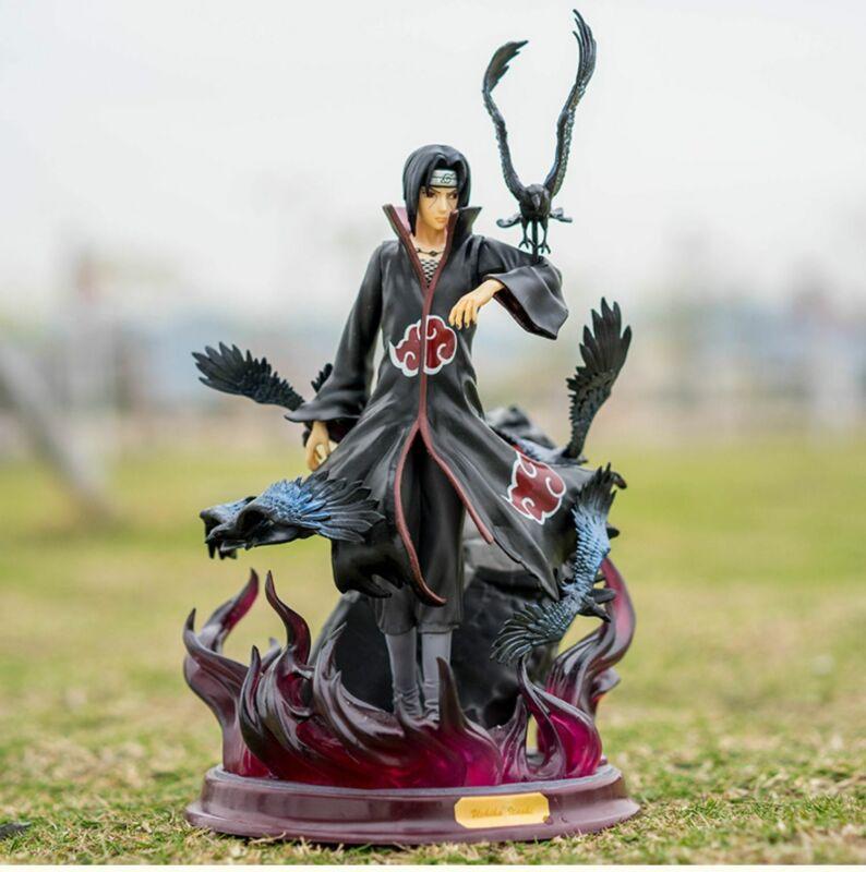 "Anime Naruto Shippuden Uchiha Itachi with Crow Figure 10"" Toy New in Box"
