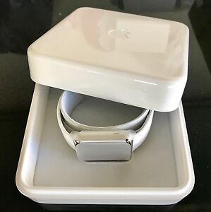 Apple Watch Stainless Steel 42mm with White Sport Band (1st Gen) Haymarket Inner Sydney Preview