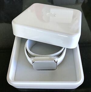 NEW Apple Watch Stainless Steel 42mm with white Sport Band The Rocks Inner Sydney Preview