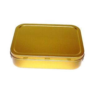 Tobacco Tin -- Plain 2oz Gilt - BRAND NEW storage box ( 50g High Quality