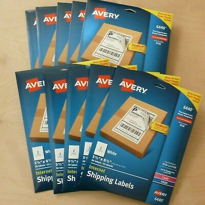 500 Ct. Avery Internet Shipping Labels 5.5 X 8.5 Laser Inkjet 6440 8126 5126