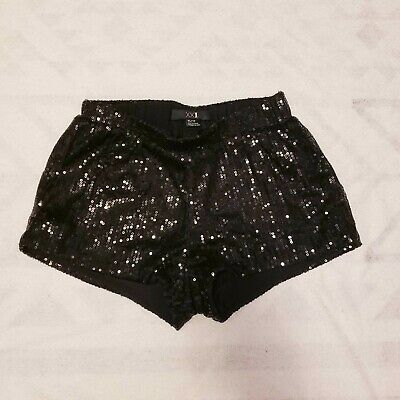 Sequin Booty Shorts (BLACK SEQUIN HOT SHORT BOOTY SHORTS DANCE RAVE CLUB)