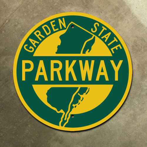 New Jersey Garden State Parkway highway marker road sign route shield 1957