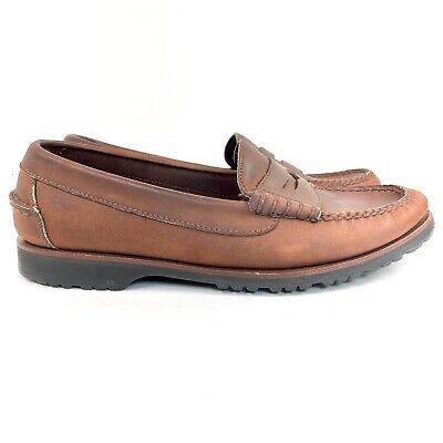 Cole Haan Penny Loafers Men's Size 9.5M Brown Leather C00390